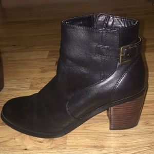14th & Union Black Leather Boots - Size 9.5